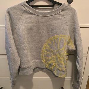 Soul Cycle Cropped Grey Sweatshirt S
